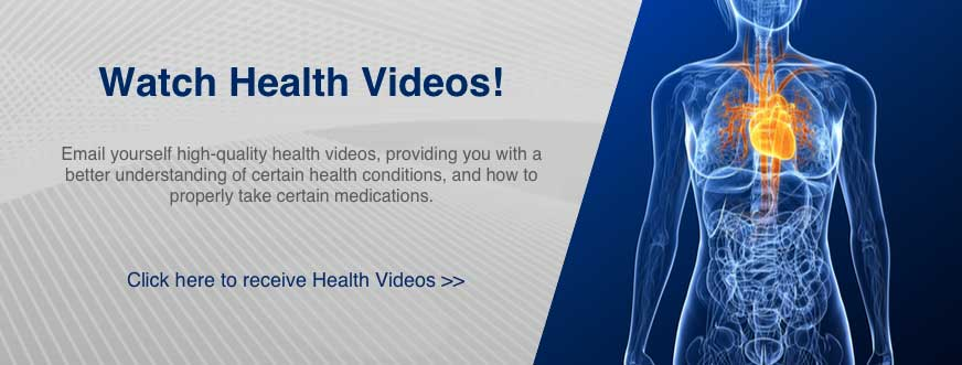 Watch Health Videos from home: A great new service offered by your pharmacist!
